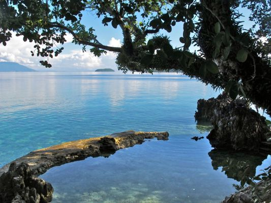 Our natural saltwater static pool in case the sea is not calm enough for you.
