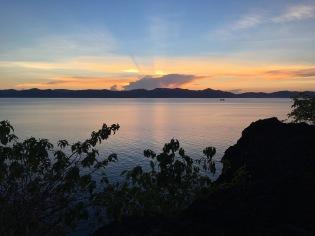 Romblon channel at sunset.