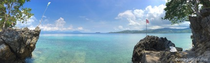 A panoramic view of our water entry point. How do you enter the water?