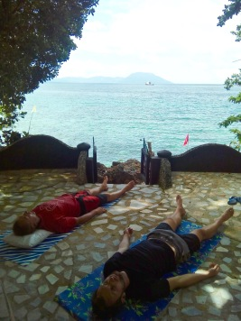 Breathing and relaxation exercise with Michal & Karl. Both held their breaths for nearly 4 and a half impressive minutes! Not bad at all for first timers!