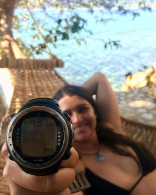 We may be a bunch of lazy freedivers here, but Kyla is still so ready to take on the freediving instructor course. New personal best of 44 meters with many more training days to go. Way to go Kyla!