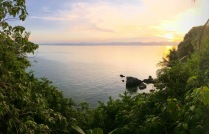 Romblon channel sunset.