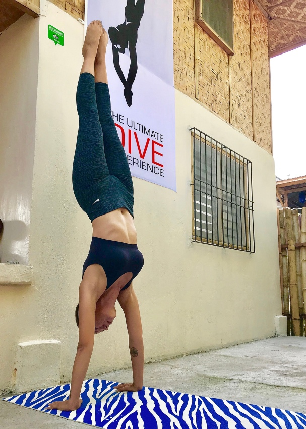 Freediving rule #7: I don't always do yoga; but when I do, I make sure I look good doing it.